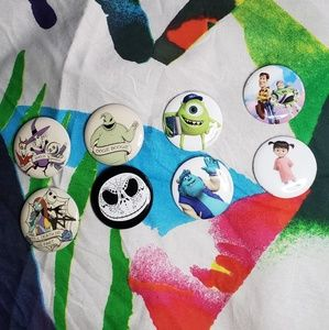 Nightmare Before Christmas & Pixar buttons